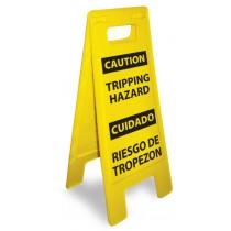 Caution Tripping Hazard (Bilingual) Heavy Duty Floor Stand (#HDFS207)