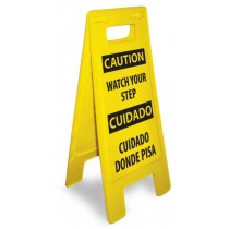 Caution Watch Your Step (Bilingual) Heavy Duty Floor Stand (#HDFS208)