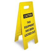 Caution This Equipment Has Been Locked Out Heavy Duty Floor Stand (#HDFS211)