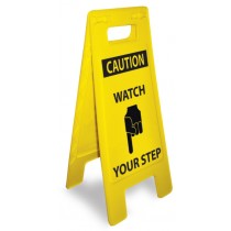 Caution Watch Your Step Heavy Duty Floor Stand (#HDFS213)
