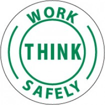 Think Work Safely Hard Hat Emblem (#HH12)