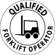 Qualified Forklift Operator Hard Hat Emblem (#HH17)