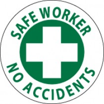 Safe Worker No Accidents Hard Hat Emblem (#HH27)
