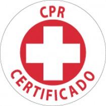CPR Certificado Hard Hat Emblem (#HH39)