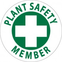 Plant Safety Member Hard Hat Emblem (#HH50)