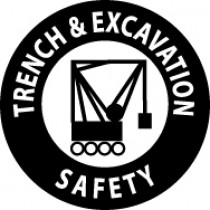 Trench & Excavation Safety Hard Hat Emblem (#HH54)