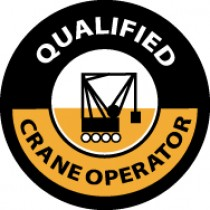 Qualified Crane Operator Hard Hat Emblem (#HH58)