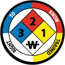 Right To Know Trained Hard Hat Emblem (#HH59)