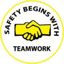 Safety Begins With Teamwork Hard Hat Emblem (#HH60)