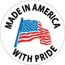 Made In America With Pride Hard Hat Emblem (#HH75)