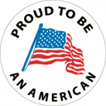 Proud To Be An American Hard Hat Emblem (#HH76)