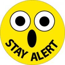 Stay Alert Hard Hat Emblem (#HH82)