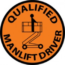 Qualified Manlift Driver Hard Hat Emblem (#HH83)