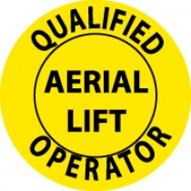Qualified Aerial Lift Operator Hard Hat Emblem (#HH84)