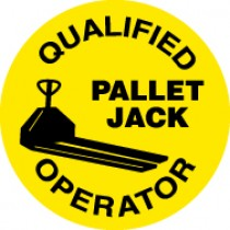 Qualified Pallet Jack Operator Hard Hat Emblem (#HH85)