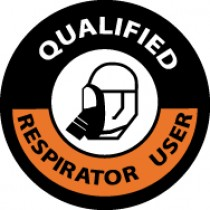 Qualified Respirator User Hard Hat Emblem (#HH86)