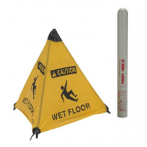 Caution Wet Floor Handy Cone Floor Sign (#HFS6)