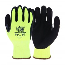 Barracuda® Hi-Vis Seamless Knit HPPE Blended Glove with Nitrile Coated Sandy Grip on Palm & Fingers - Touchscreen Compatible  (#HVG713SNF)