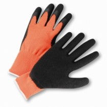PosiGrip® Hi-Vis Seamless Knit Cotton / Polyester Glove with Latex Coated Crinkle Grip on Palm & Fingers  (#HVO700SLC)
