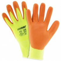 Hi Vis Yellow HPPE Orange Foam Nitrile Palm Coated Gloves (#HVY710HSNF)