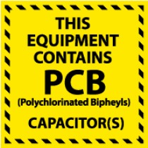 This Equipment Contains PCB Capacitor(s) (#HW12)
