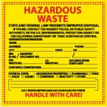 California Hazardous Waste Label (#HW15)