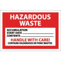 Hazardous Waste Handle With Care Label (#HW19)