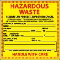 Hazardous Waste Label, Specific Chemical (#HW10)