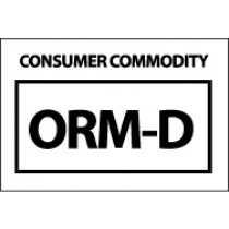 Consumer Commodity ORM-D Label (#HW26)