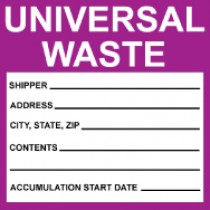 Universal Waste Label (#HW30AP)
