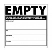Empty No More Than One Inch HazMat Label (#HW35)