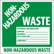 Non-Hazardous Waste Label (#HW5W)