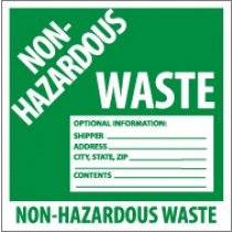 Non-Hazardous Waste Label (#HW5)