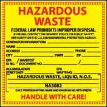 Hazardous Waste Label, Liquid (#HW7L)