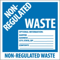 Non-Regulated Waste Label (#HW9N)