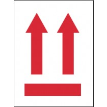 Arrows Up Graphic International Shipping Label (#IHL3AL)
