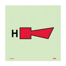 Symbol Fire Alarm Horn Halon IMO Label (#IMO116)