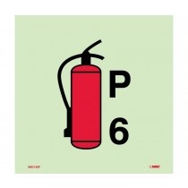 Symbol Fire Extinguisher Powder IMO Label (#IMO120)