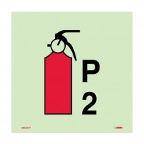 Symbol Fire Extinguisher Powder P2 IMO Label (#IMO161)