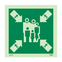 Symbol Assembly Muster Station IMO Label (#IMO219)