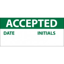 Accepted Write-On Inspection Label (#INL1)