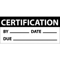 Certification Write-On Inspection Label (#INL5)