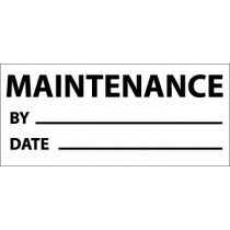 Maintenance Write-On Inspection Label (#INL9)