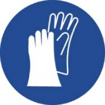 Wear Hand Protection ISO Label (#ISO204AP)