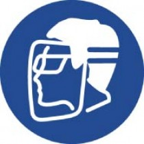 Wear Face Shield & Eye Protection ISO Label (#ISO205AP)