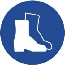Wear Foot Protection ISO Label (#ISO206AP)