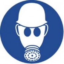 Wear Respiratory & Head Protection ISO Label (#ISO212AP)