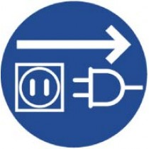 Unplug Electrical Supply ISO Label (#ISO214AP)