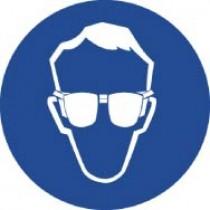 Wear Eye Protection ISO Label (#ISO401AP)
