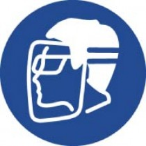 Wear Face Shield & Eye Protection ISO Label (#ISO405AP)
